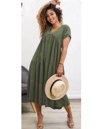 Šaty - kód 4475 - olivová  zelená