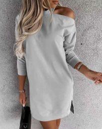 Šaty - kód 0796 - sivá