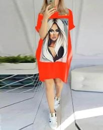 Šaty - kód 2766 - červená