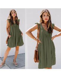 Šaty - kód 5090 - olivová  zelená