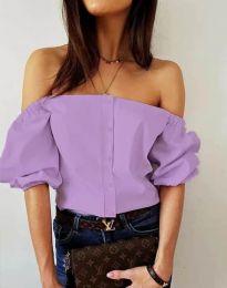 Košeľa - kód 3525 - svetlo fialová