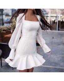 Šaty - kód 3605 - biela