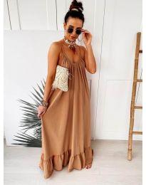 Šaty - kód 2218 - hnedá
