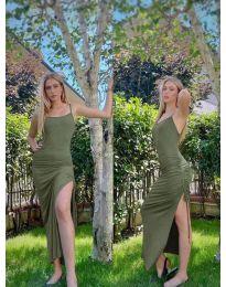 Šaty - kód 7858 - olivovo zelená