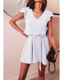 Šaty - kód 5551 - biela