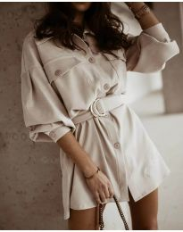 Šaty - kód 6461 - bežová