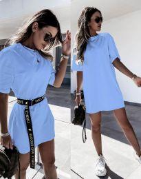 Šaty - kód 8809 - svetlo modrá