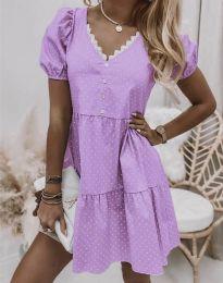 Šaty - kód 8292 - svetlo fialová