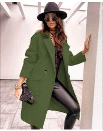 Kabát - kód 7278 - olivová  zelená