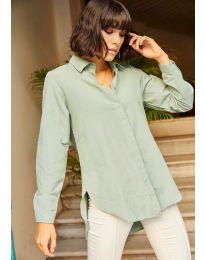 Дамска риза в цвят мента - код 10508