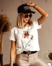 Tričko - kód 1533 - biela