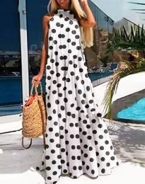 Šaty - kód 0288 - 2 - biela