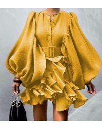 Šaty - kód 2819 - žltá