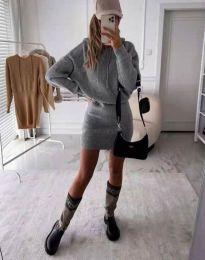 Šaty - kód 0235 - šedá
