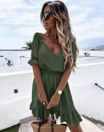 Šaty - kód 6460 - olivovo zelená