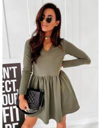 Šaty - kód 0060 - olivová  zelená