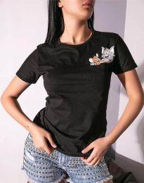 Tričko - kód 2447 - 1 - čierná