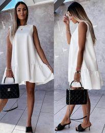 Šaty - kód 3456 - biela