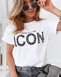 Tričko - kód 4357 - biela