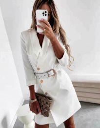 Šaty - kód 9257 - biela