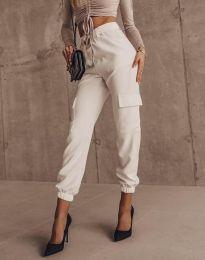 Елегантен панталон в бяло - код 2985