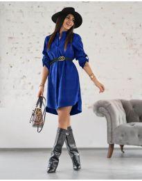 Šaty - kód 9601 - tmavomodrá