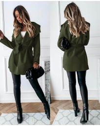 Kabát - kód 643 - olivová  zelená