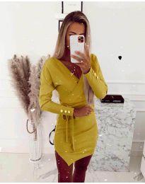 Šaty - kód 2077 - žltá
