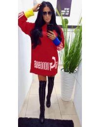Šaty - kód 294 - červená