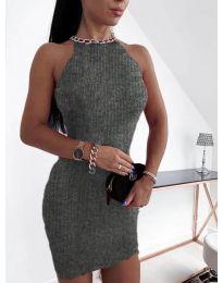 Šaty - kód 9690 - tmavě šedá