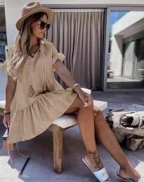 Šaty - kód 6144 - cappuccino