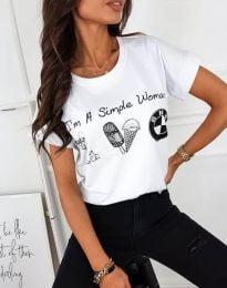 Tričko - kód 8383 - biela