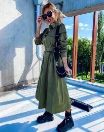 Šaty - kód 1467 - olivová  zelená