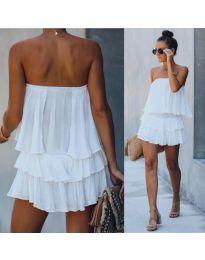 Šaty - kód 0489 - biela