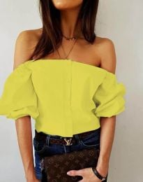 Košeľa - kód 3525 - žltá
