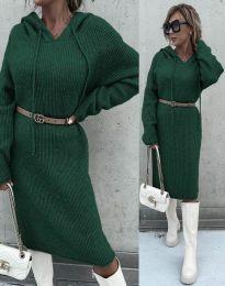 Šaty - kód 6449 - tmavozelená