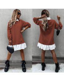 Šaty - kód 5516 - hnedá