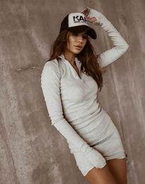 Šaty - kód 4288 - tmavošedý