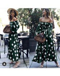 Šaty - kód 9951 - olivová  zelená