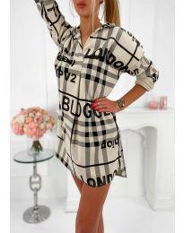 Šaty - kód 5456 - bežová