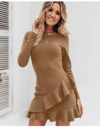 Šaty - kód 2909 - hnedá