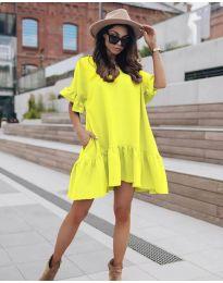 Šaty - kód 748 - neon žuta