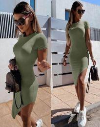 Šaty - kód 8391 - olivovo zelená