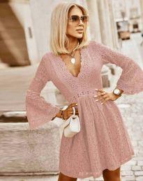 Šaty - kód 6239 - pudrová