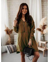 Šaty - kód 6113 hnedá