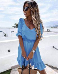 Šaty - kód 6460 - svetlo modrá