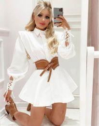 Šaty - kód 44589 - 2 - biela
