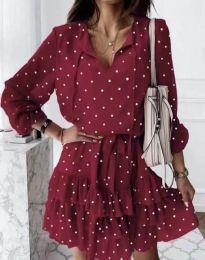 Šaty - kód 7113 - červená