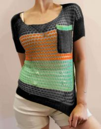 Дамска тениска плетиво - код 7634 - 3