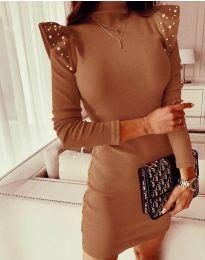 Šaty - kód 9494 - hnedá